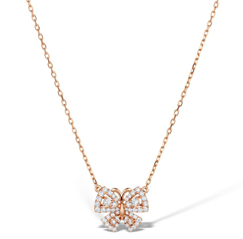 Butterfly necklace in rose gold and diamonds - Vivara Collection by TheDiamondStore UK