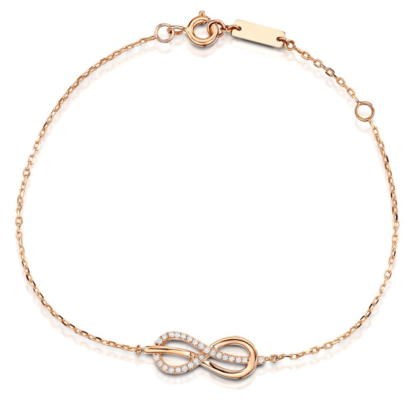 Bracelet rose gold and diamond infinity symbol from the Vivara Collection by TheDiamondStore UK