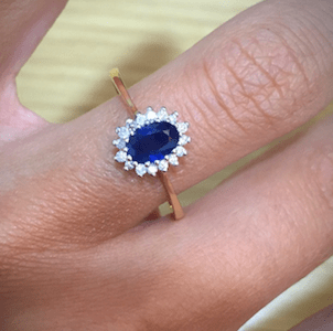 Sapphire diamond engagement rings from TheDiamondStore UK