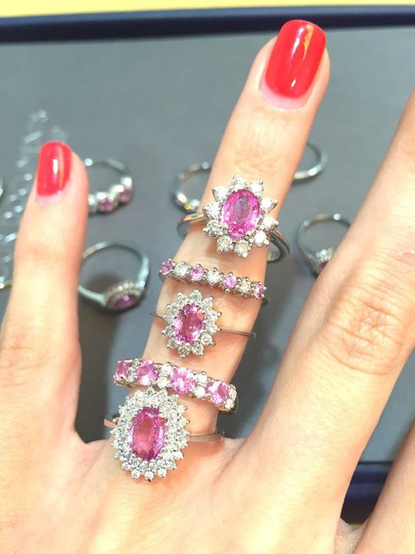 pink sapphire rings - summer 2016 jewellery trends