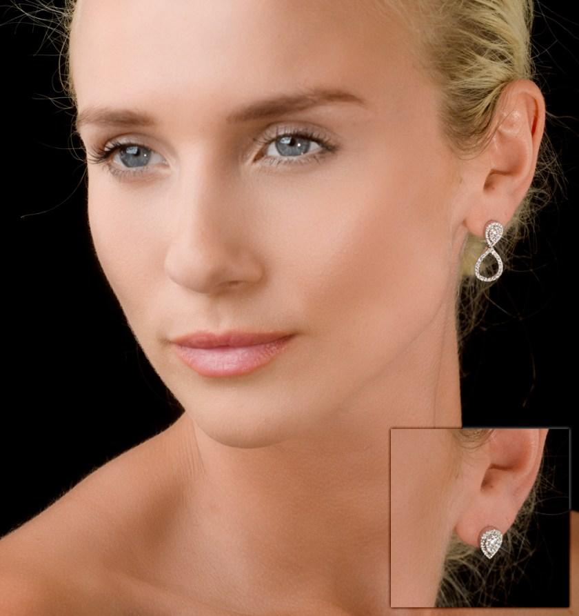 ATHENA DIAMOND DROP EARRINGS MULTI WEAR 0.90CT 18K WHITE GOLD - P3498