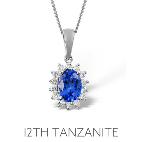 12th Anniversary Tanzanite - Wedding Anniversary Gemstone Jewellery