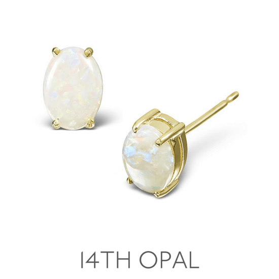 14th Anniversary Opal - Wedding Anniversary Gemstone Jewellery