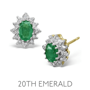 20th Anniversary Emerald - Wedding Anniversary Gemstone Jewellery