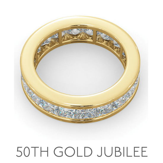 50th Anniversary Gold Jubilee - Wedding Anniversary Gemstone Jewellery