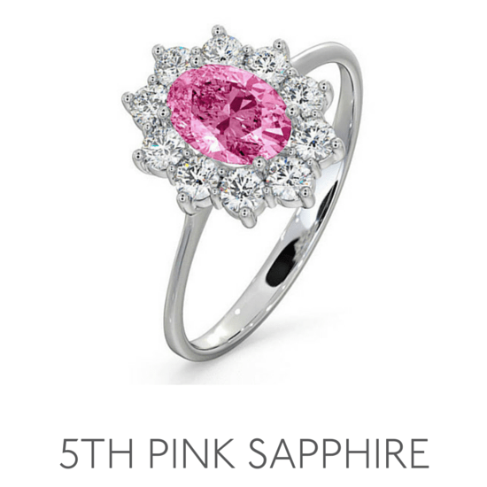 5th Anniversary Pink Sapphire - Wedding Anniversary Gemstone Jewellery