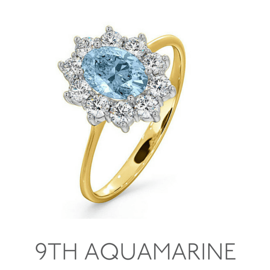 9th Anniversary Aquamarine - Wedding Anniversary Gemstone Jewellery