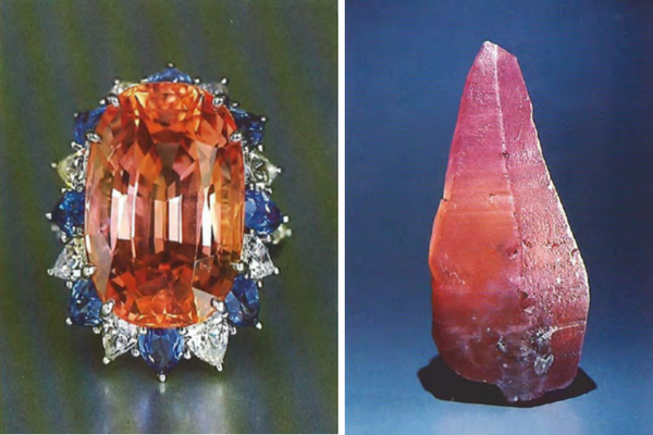 sapphire colours - padparadscha sapphires