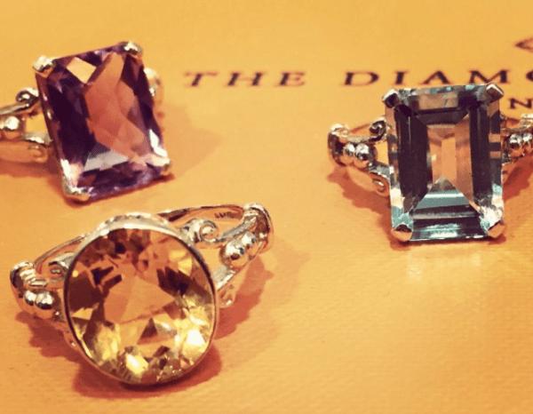 citrine rings- Autumn Jewellery