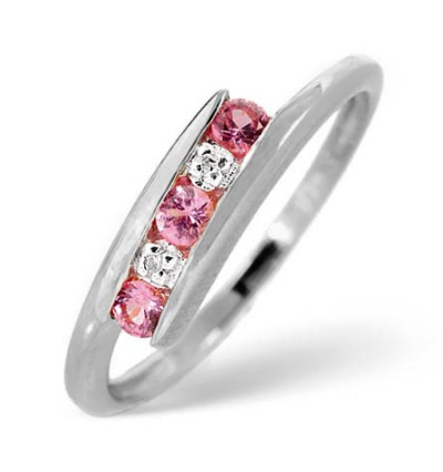 Best Christmas Jewellery Gifts - pink sapphire ring