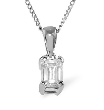 best necklaces diamond solitaire emerald cut