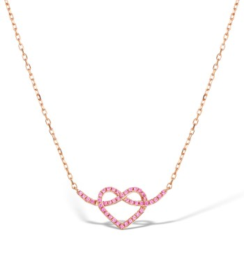 best necklaces rose gold pink sapphires heart shaped