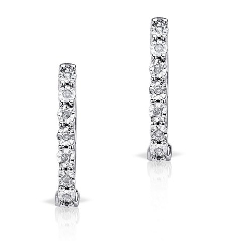 Best earrings - small diamond hoop earrings