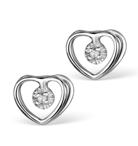 Best earrings - diamond heart studs