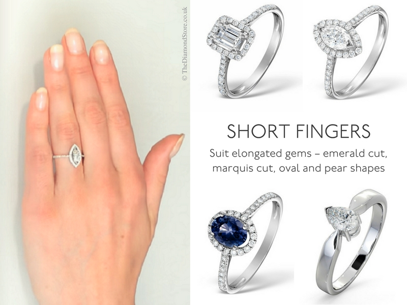 Best Engagement Ring for Your Hand - short fingers