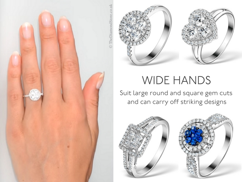 Best Engagement Ring for Your Hand - wide hands