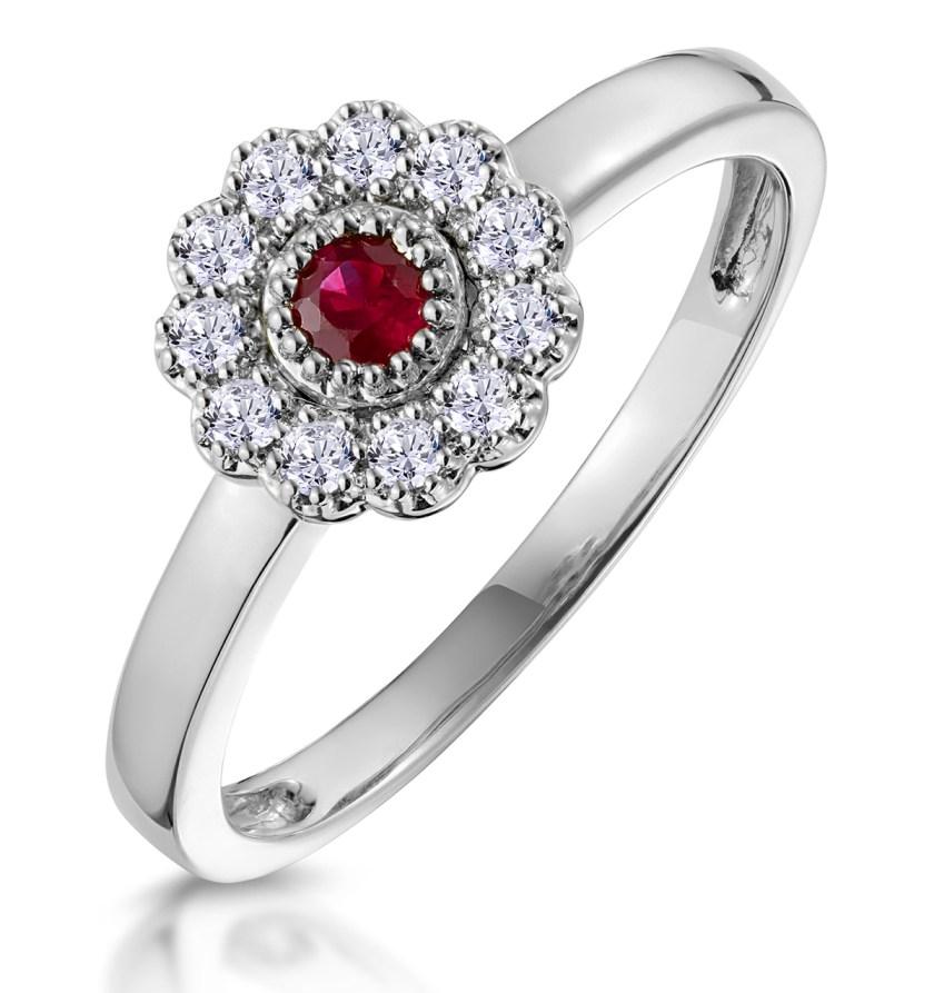 Ruby Diamond Engagement Ring