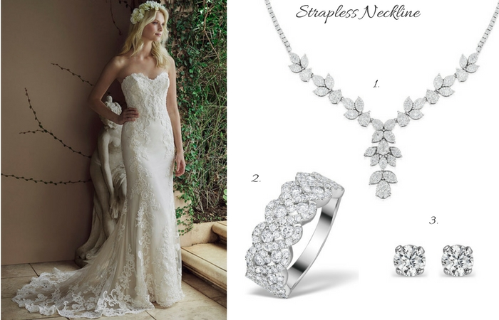 What Jewellery Suits My Wedding Dress 4 Styles To Match Your Neckline