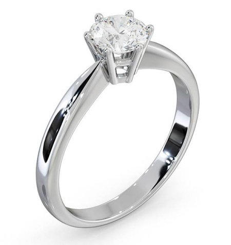 High set solitaire rings