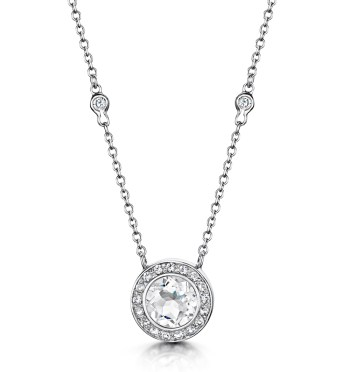 best necklaces white topaz pendant