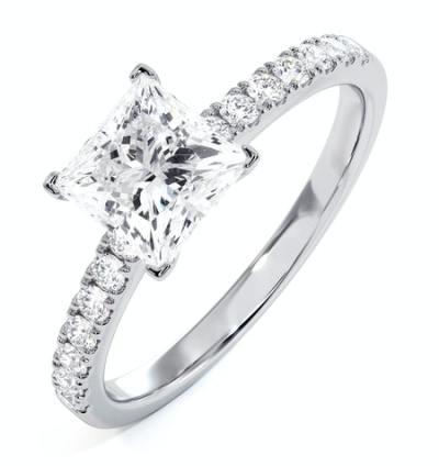 diamond shoulder rings