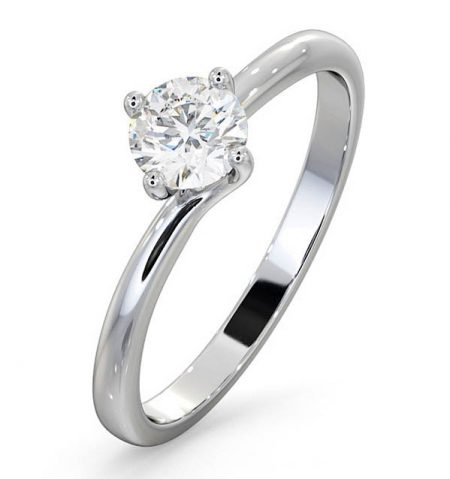 Lily Solitaire Lab Created Diamond Ring