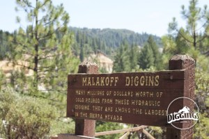 Sign overlooking the Malakoff Diggins