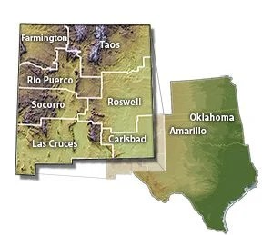 New Mexico is the BLM Administrative State including oversight of public lands in Oklahoma, Texas, and Kansas. While Oklahoma, Texas, and Kansas are combined into the Oklahoma Field office, New Mexico is broken down into 7 different offices.