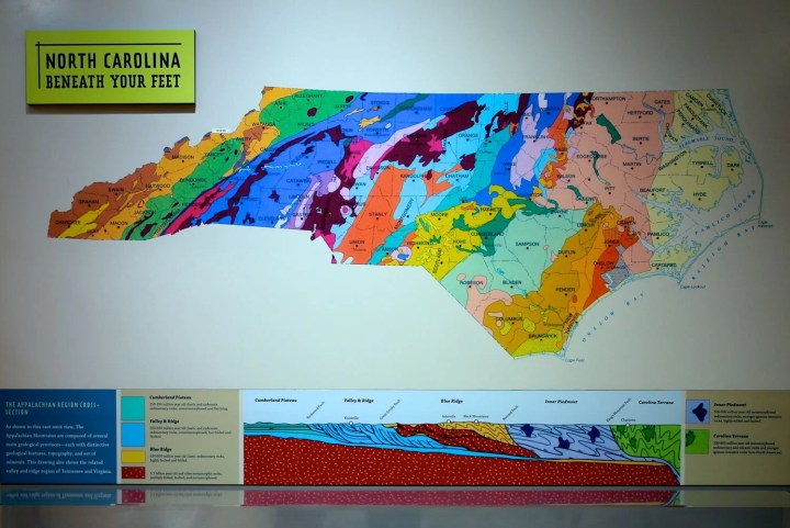 North Carolina geologic map