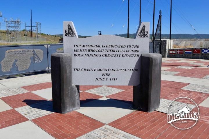Plaque commemorating the 168 men lost in the Granite Mountain-Spectator Fire, hard rock mining's greatest disaster commemorated at the Granite Mountain Memorial