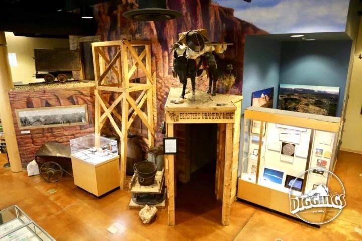 Uranium Mining Display at the Colorado School of Mines Geology Museum