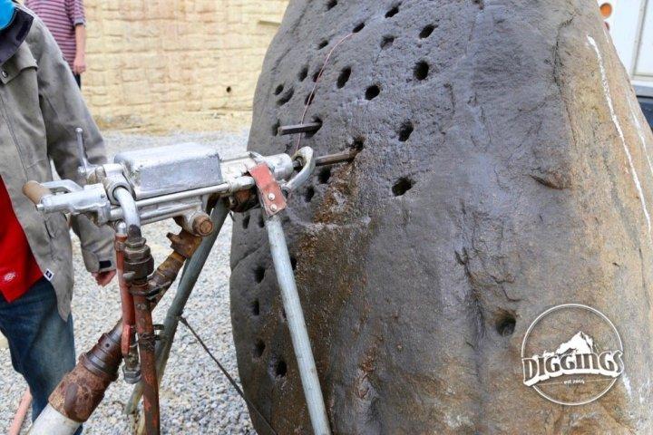 Pneumatic drill demonstration at the Argo Gold Mine & Mill, Idaho Springs, Colorado