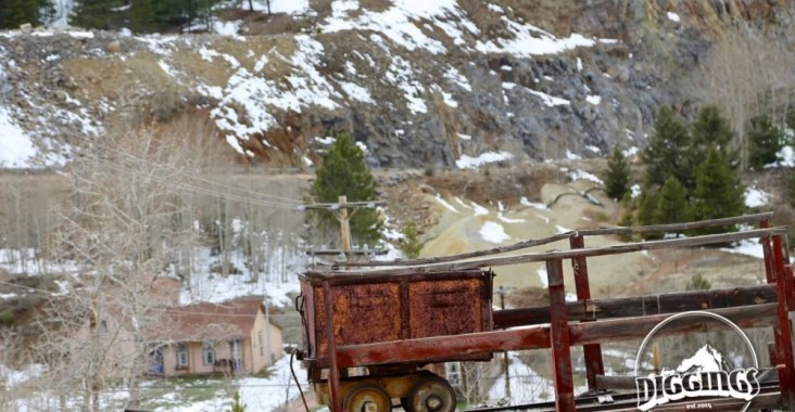 Lonely Ore Cart in Central City, Colorado