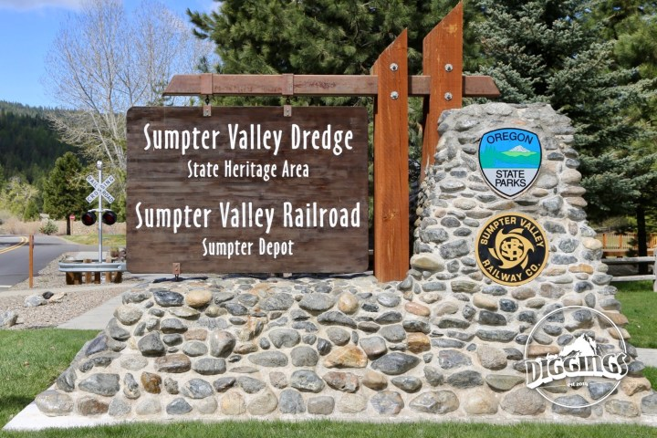 Entrance to the Sumpter Valley Dredge State Heritage Area