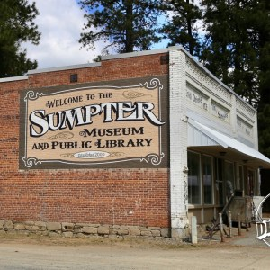 Outside the Sumpter Museum And Public Library