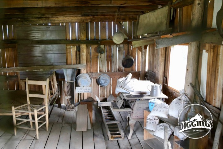Inside the Miner's Cabin at the Kerbyville Historical Museum