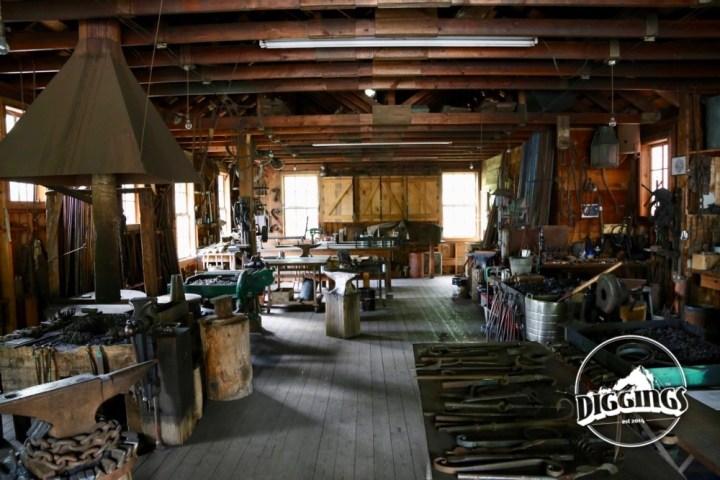 Blacksmith at the Trinity County Jake Jackson Museum