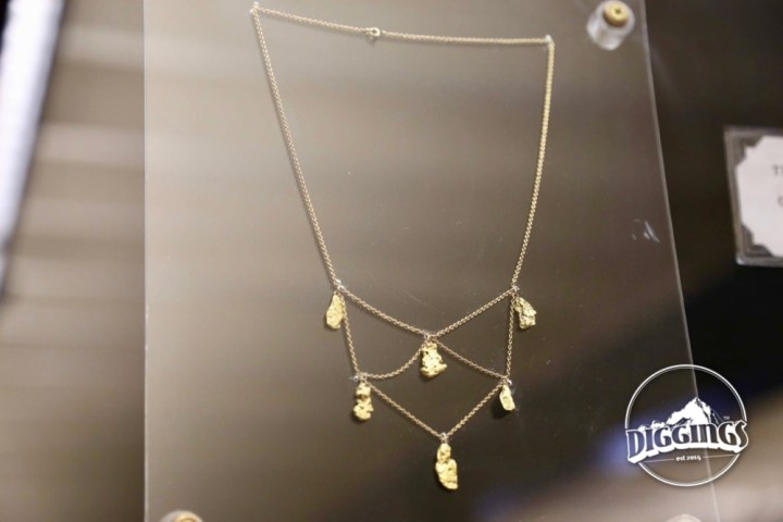 Gold Nugget Necklace at the Trinity County Jake Jackson Museum