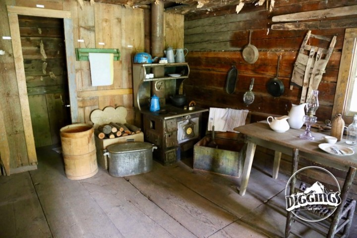 Inside the Trinity County Jake Jackson Museum Miner's Cabin