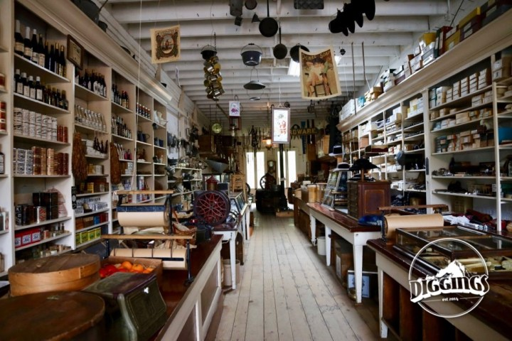 Inside the Litsch General Merchandise Store—renovated to preserve the store as it would have appeared in the 1880s.