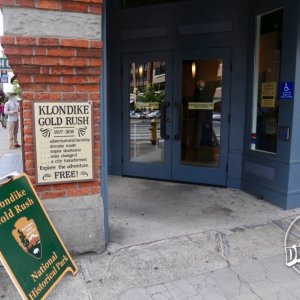 Entrance to the Klondike Gold Rush National Historical Park