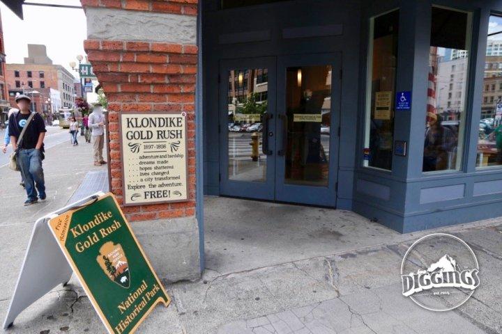Entrance to the Klondike Gold Rush National Historical Park
