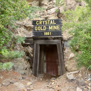 Entrance to the Crystal Gold Mine 1881
