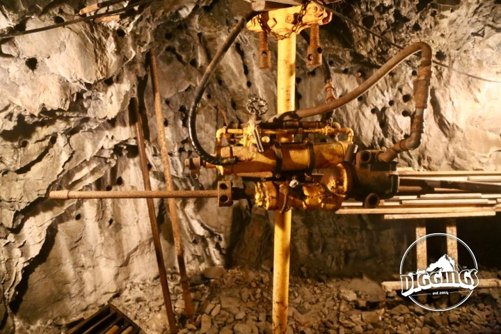 Hydraulic drill at the Sierra Silver Mine
