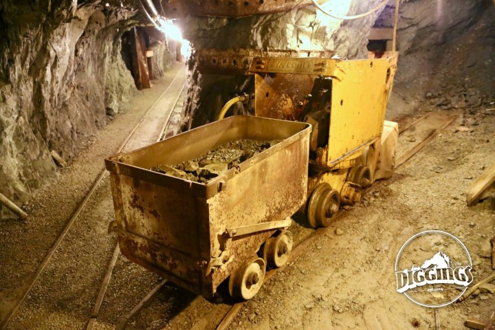 Ore Cart & Shovel at the Sierra Silver Mine