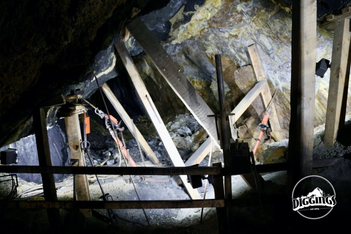 Hard rock drills in Broken Boot Gold Mine of Deadwood, South Dakota