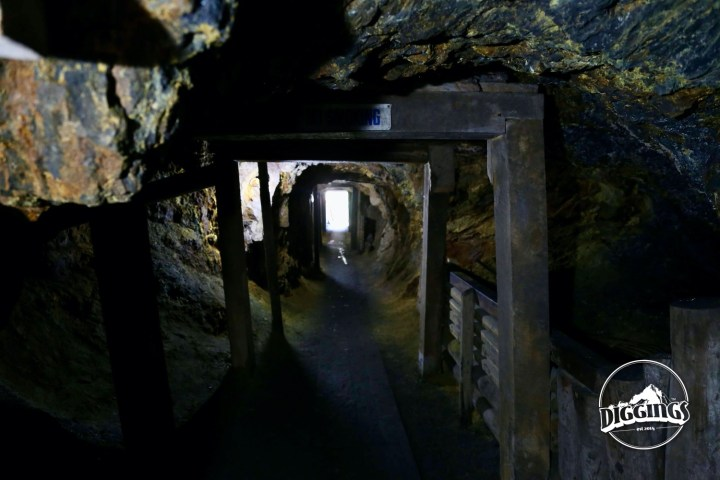 Touring the tunnels in Broken Boot Gold Mine of Deadwood, South Dakota