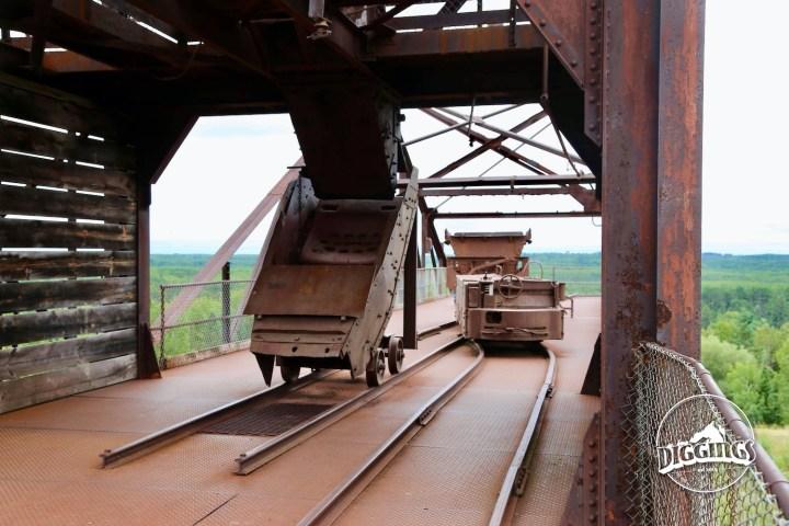 Carts at the Soudan Underground Mine State Park