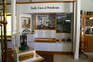 California Oil Museum explaining the early uses of petroleum.