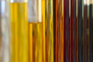 Varying samples of crude oil